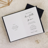 our love in the stars lush gold navy wedding invitation